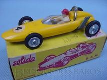 1. Brinquedos antigos - Solido - BRM V8 amarela Datado 2-1964