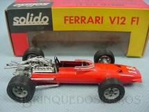 1. Brinquedos antigos - Solido-Brosol - Ferrari V12 Fórmula 1 vermelha Fabricada pela Brosol Solido brésilienne Datada 6-1968