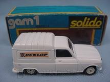 1. Brinquedos antigos - Solido - Renault 4 Fourgonnette Dunlop Datado 4-1976