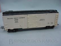 1. Brinquedos antigos - Pioneer - Vagão Box Refrigerado branco Pacific Fruit Expres Década de 1960