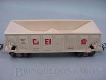 1. Brinquedos antigos - Pioneer - Vagão Hopper branco C + EI Década de 1960