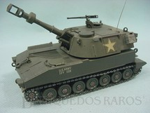 1. Brinquedos antigos - Aurora - Tanque de guerra M109 Howitzer Tank Kit montado
