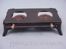 1. Brinquedos antigos - Gesenia - Fogão de duas bôcas para Cozinha de Boneca Década de 1930