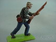 1. Brinquedos antigos - Britains - Soldado da União Guerra da Seceção avançando com fuzil Série Deetail Década de 1970
