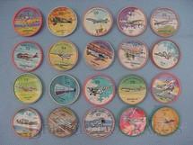 1. Brinquedos antigos - Sem identificação - Chapinhas Kibon da Aviação Brinde da década de 1960