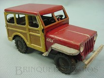 1. Brinquedos antigos - Göso - Jeep Rural Willys com 12,00 cm de comprimento  Made in US Zone Ano 1952 Matriz da Rural fabricado pela Metalma