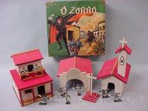 1. Brinquedos antigos - Trol - Conjunto O Zorro completo Perfeito estado Figuras Casablanca Coleção Miguel Cerrato Ano 1969