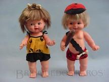 1. Brinquedos antigos - Estrela - Boneca Pedrita e Ban Ban 25,00 cm de altura completos Década de 1980