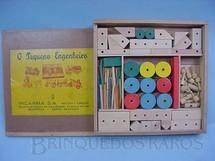 1. Brinquedos antigos - Incarma - Conjunto de Montar Pequeno Engenheiro completo Década de 1960