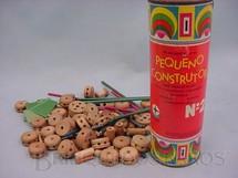 1. Brinquedos antigos - Estrela - Conjunto de Montar Pequeno Construtor Caixa 2  completo Década de 1960