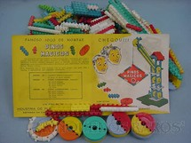 1. Brinquedos antigos - Elka - Conjunto de Montar Pinos Mágicos Década de 1960