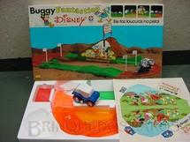 1. Brinquedos antigos - Estrela - Buggy Fantástico série Disney Completo com adesivos ainda por colar Década de 1980