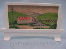 1. Brinquedos antigos - Bachmann - Bilboard suporte com cartaz Solarex Sun Glas Série Plasticville Década de 1950