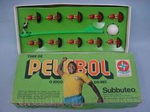 1. Brinquedos antigos - Estrela - PeleBol O Jogo do Rei Flamengo Subbuteo Década de 1970