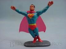 1. Brinquedos antigos - Casablanca e Gulliver - Super Homem de plástico pintado completo com Capa Década de 1970