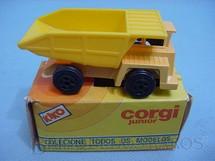 1. Brinquedos antigos - Corgi Toys-Kiko - Quarry Dumper Truck amarelo Brazilian Corgi Jr Kiko Década de 1980