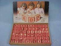 1. Brinquedos antigos - Coluna - Conjuntos de Blocos com as Letras do Alfabeto Década de 1970