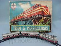 1. Brinquedos antigos - Estrela - Conjunto de Locomotiva e dois Carros de Passageiros Trem de Passageiros Ferrorama Datado 14 Mar 1972