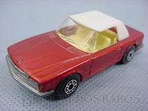 1. Brinquedos antigos - Matchbox - Mercedes Benz 350 SL Tourer Superfast laranja metálica com capota