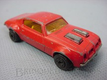 1. Brinquedos antigos - Matchbox - Inbrima - Pontiac Firebird Superfast vermelho Brazilian Matchbox Inbrima 1970