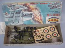 1. Brinquedos antigos - Aurora - Avião SE-5 Scout Década de 1960