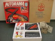 1. Brinquedos antigos - Estrela - Conjunto de Autorama Duelo de Campeões Ayrton Senna e Nelson Piquet Completo com Caixa e Sobre-Caixa Perfeito estado Datado 25/09/1989
