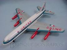 1. Brinquedos antigos - Sem identificação - Boeing 707 United com 27,00 de comprimento Década de 1970