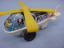 1. Brinquedos antigos - N.D. - Helicóptero Police de lata e plástico com 9,00 cm de comprimento Década de 1970