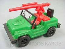 1. Brinquedos antigos - Pevi - Gurgel X10 militar com canhão 14,00 cm de comprimento Década de 1980
