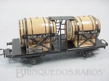 1. Brinquedos antigos - Marklin - Vagão transporte de Vinho de dois eixos Bordeaux Década de 1960