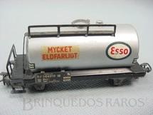 1. Brinquedos antigos - Marklin - Vagão tanque de dois eixos Esso Mycket Eldfarligt Década de 1960