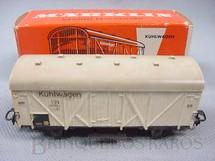 1. Brinquedos antigos - Marklin - Vagão frigorifico de dois eixos Kuhlwagen Decoração em decalcomania Década de 1960