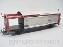 1. Brinquedos antigos - Marklin - Vagão furgão de dois eixos Teto e leterais deslizantes Década de 1960