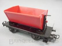 1. Brinquedos antigos - Marklin - Vagão de dois eixos para transporte de pedras Década de 1960