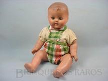 1. Brinquedos antigos - Suzanne - Bebê de massa com 40,00 cm de altura Roupa original olhos de plástico pintado Década de 1940
