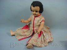 1. Brinquedos antigos - Suzanne - Boneca de massa com 52,00 cm de altura Roupa original olhos de plástico pintados Década de 1940