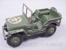 1. Brinquedos antigos - Dinky Toys - Jeep Willys militar com 7,00 de comprimento Ano 1946