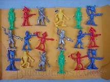 1. Brinquedos antigos - Wham O Mfg. Co. - Conjunto completo com 18 figuras espaciais Captain Video and His Video Rangers Década de 1950
