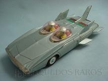 1. Brinquedos antigos - Alps - Carro Conceito 1959 General Motors Firebird III com 28,00 cm de comprimento Versão Azul Década de 1960