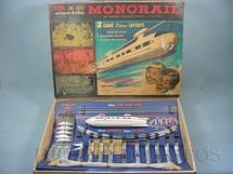1. Brinquedos antigos - Wham O Mfg. Co. - Conjunto completo de transporte monotrilho X-20 Electric Monorail Ano 1962