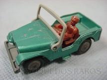1. Brinquedos antigos - Corgi Toys-Husky - Jeep Willys verde metálico Husky