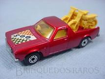 1. Brinquedos antigos - Matchbox - Caminhonete Holden Pick Up Superfast vermelho metálico