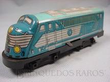 1. Brinquedos antigos - Estrela - Locomotiva diesel Ferrorama azul Década de 1960