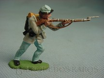 1. Brinquedos antigos - Herald - Soldado Confederado atirando com fuzil Década de 1950 Figura Matriz para Soldado Fanabri Batalha do Tuiuti