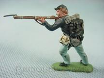 1. Brinquedos antigos - Herald - Soldado da União atirando com fuzil Década de 1950 Figura Matriz para Soldado Fanabri Batalha do Tuiuti