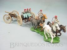 1. Brinquedos antigos - Britains - Carreta com Canhão quatro cavalos e cinco Soldados Confederados Perfeito estado completo Década de 1960