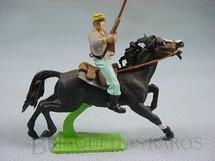 1. Brinquedos antigos - Britains - Soldado Confederado a cavalo com Rifle Série Deetail Década de 1970