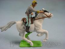 1. Brinquedos antigos - Britains - Soldado Confederado Guerra de Secessão a cavalo com Revolver Série Deetail Década de 1970