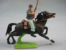 1. Brinquedos antigos - Britains - Soldado da União a Cavalo com Rifle Série Deetail Década de 1970