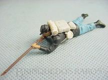 1. Brinquedos antigos - Britains - Soldado da União deitado atirando com fuzil Década de 1960